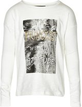 Creamie - meisjes shirt - model Emanuella cloud - wit - Maat 116