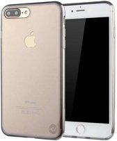iPhone 8 zwart siliconenhoesje transparant siliconenhoesje / Siliconen Gel TPU / Back Cover / Hoesje Iphone 8 zwart doorzichtig