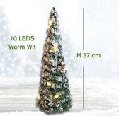 Mini Kerstboom met 10 LED | 37 cm
