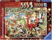 Ravensburger puzzel Santa's Final Preparations - Legpuzzel - 1000 stukjes