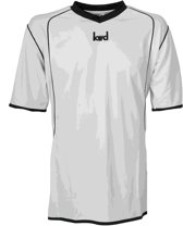 KWD Sportshirt Victoria korte mouw - Wit/zwart - Maat XL