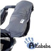 Altabebe Alpin handenwarmer - Handwarmer - Handschoen voor kinderwagen & wandelwagen - Grijs/zwart