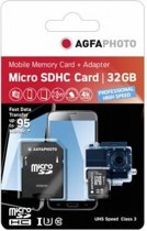 AgfaPhoto MicroSDHC UHS I 32GB Prof. High Speed U3 + Adapter