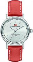 River Woods RW340023 Oswego horloge Vrouwen - Rood - Leer 34 mm