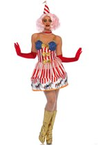 Carousel Clown kostuum - S - Multicolours - Leg Avenue