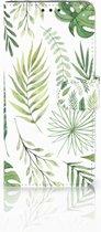 LG V40 Thinq Uniek Boekhoesje Leaves