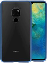 Magnetic Back Cover voor Huawei Mate 20 Blauw - Transparant