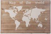 Houten kunst - Wanddecoratie hout - wereldkaart