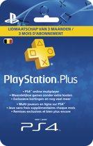 Belgisch Sony PlayStation Plus Abonnement 90 Dagen België - PS4 + PS3 + PS Vita + PSN