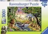 Ravensburger puzzel Avondzon bij de drinkplaats - Legpuzzel - 300 stukjes