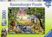 Ravensburger puzzel Avondzon bij de drinkplaats 300 stukjes