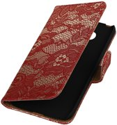 Rood Lace booktype cover hoesje voor LG G5