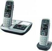 Gigaset E560A - Duo DECT telefoon - Antwoordapparaat - Zilver