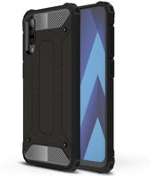 Samsung Galaxy A70 Hoesje - Armor Hybrid - Zwart