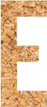 Kleefletter - plakletter - prikbord - kurk - vegan - letter E - 58 cm hoog