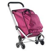 Shopping Cruiser Boodschappentrolley - Handige Trappenloper - Boodschappen wagen - Fuchsia