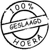 Sticker 100% geslaagd hoera  Wit   Rosami   Decoratiesticker