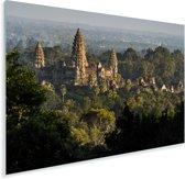Angkor Wat tussen de bomen Plexiglas 180x120 cm - Foto print op Glas (Plexiglas wanddecoratie) XXL / Groot formaat!