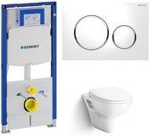 Bondo Lola & Geberit Duofix + Sigma 20 Wit/Chroom Toiletset