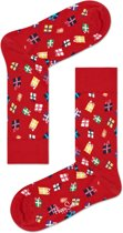 Happy Socks - Happy Holiday - kerst sokken - Gift - Rood - Unisex - Maat 41-46