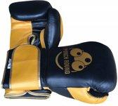 Punch Round™ Champion Bokshandschoenen Leder Zwart Goud 16 OZ Punch Round Bokshandschoenen