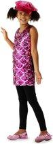 Disco jurk roze maat 122/128