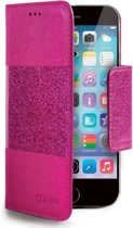 Celly Glitty Wallet Stand Bookcase Pink voor Apple iPhone 6 / 6s