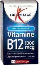 Lucovitaal - Vitamine B12 1000 micogram - Kersensmaak - 60 kauwtabletten - Voedingssupplementen