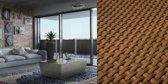 Onverwoestbaar Balkonscherm - 90 cm hoog - Duurzaam & eenvoudige montage - 2 meter lange balkonafscheiding - PERFECT BALKONSCHERM© bruin