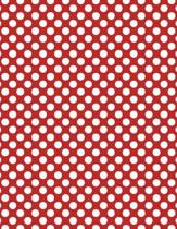Polka Dots - Red 101 - Lined Notebook with Margins 8.5x11