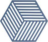 Zone Denmark Hexagon Silicone onderzetter denim blauw
