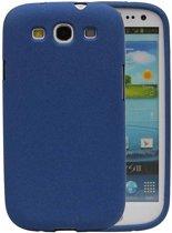 Samsung Galaxy S3 Hoesje Sand Look TPU Blauw