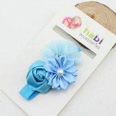 Haarband Flowers - Licht Blauw
