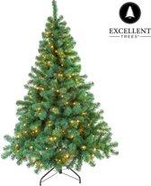 kerstboom excellent trees led stavanger green 120 cm met verlichting luxe uitvoering 160