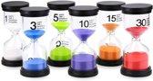 Zandlopers Deluxe | Set van 5 Zandlopers | 30sec / 1min /  3 min / 5 min / 10min | Zandloper | Tijd | aftellen | spel & speelgoed | speeltijd | 30 seconds | tijdsduur | timen | timer | spellen | spelletjes