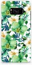 Samsung S8 Bumpercase Orchidee Groen
