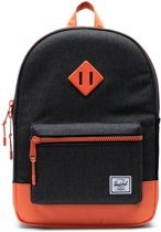 Herschel Supply Co. Heritage Youth Rugzak 16L - Black Crosshatch/Firecracker