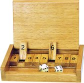 Goki Dobbelspel shut the box 13,5 x 9 cm