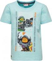 Licht blauwe jongens tshirt Lego Nexo knights Hero Legowear - Maat 116