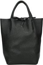 Duifhuizen Leather Collection shopper S black