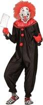 Monster & Griezel Kostuum | Zwart Rood Horror Killer Clown | Man | Large | Halloween | Verkleedkleding
