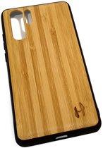 Hoentjen Creatie, Houten TPU case - Huawei P30 Pro Bamboe