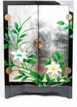 Chinese Meubelen Chinese Kast Nachtkastje Handbeschilderde Lotus Yangzhou Lacquer Lakkastje Klein - Orientique