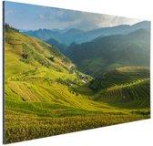 Rijstvelden Bali Aluminium 60x40 cm - Foto print op Aluminium (metaal wanddecoratie)