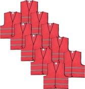 Veiligheidshesje - Veiligheidsvest - Kind - Rood - 10 stuks
