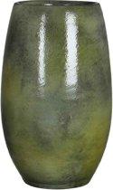 Mica Decorations ingmar vaas groen glanzend maat in cm: 35 x 18