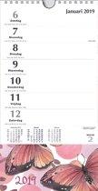 XL minikalender MGP 2019 - Omlegkalender - 1 week/1 pagina - Vlinders - 16 x 30 cm