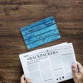 Apple iPad Mini 4 Uniek Tablethoesje Wood Blue