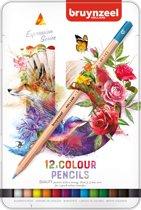 Kleurpotloden in blik Expression: 12 stuks (7705M1
