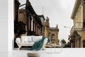 Fotobehang vinyl - Antieke architectuur in Lima breedte 420 cm x hoogte 280 cm - Foto print op behang (in 7 formaten beschikbaar)